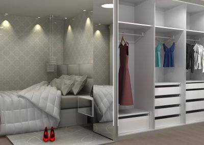 Projetos de Quarto e Closet Planejados Roberto Almeida Interiores 16
